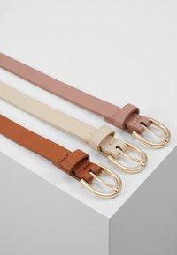 Anna Field - 3 PACK - Waist belt - cognac/rose/beige - 2