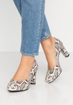 NUMAR CLASSIC - Platform heels - ivory