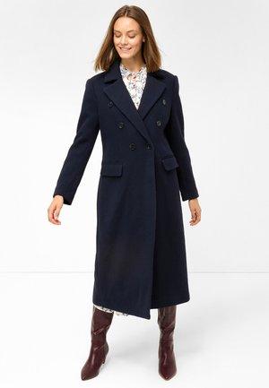LANGER WOLLMANTEL - Classic coat - nachtblau