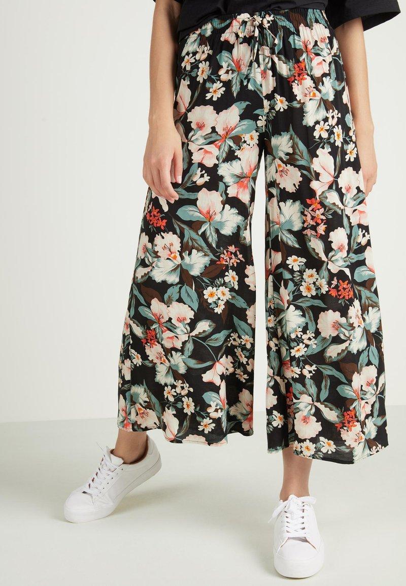 Tezenis - CULOTTE AUS LEICHTEM STOFF - Trousers - nero st.lake flowers
