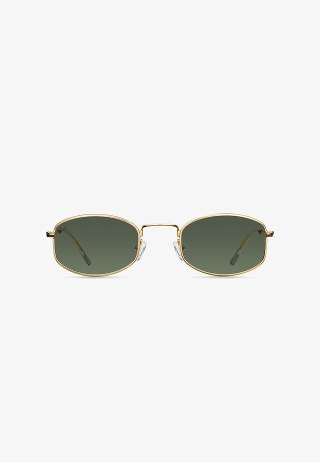 SUKU - Sunglasses - gold olive