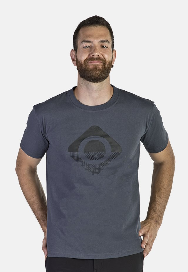 GRANBY - T-shirt con stampa - dark grey/black