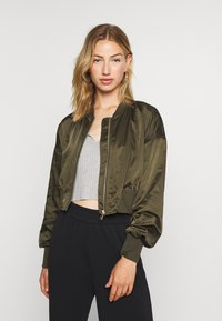 ONLY - ONLJACKIE CROPPED JACKET  - Bomber Jacket - forest night - 0