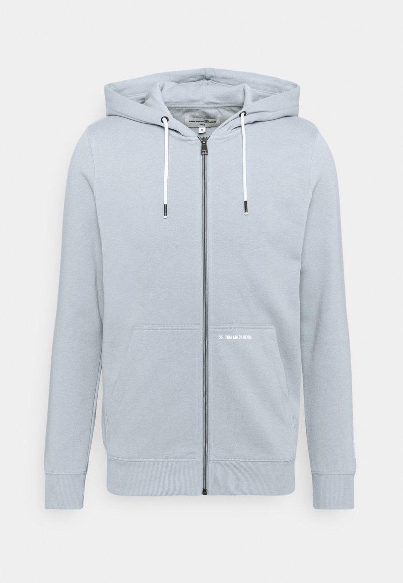 TOM TAILOR DENIM - HOODY JACKET  - Zip-up sweatshirt - foggy blue