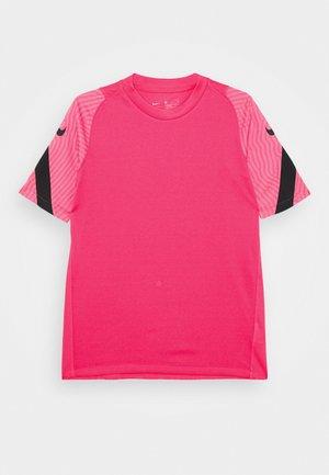 Triko spotiskem - hyper pink/pink glow/black