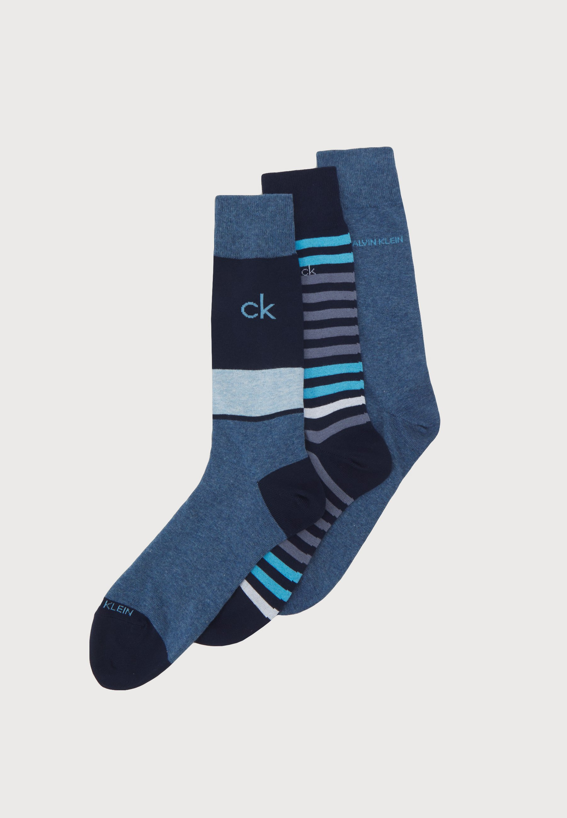 Men MENS MULTI STRIPE CREW COOPER 3 PACK - Socks