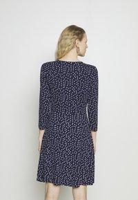 Anna Field - Quarter sleeves wrap mini dress - Jersey dress - dark blue/white - 2