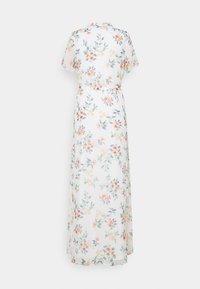 Vero Moda Tall - VMKAY ANKLE SHIRT DRESS - Maxi dress - snow white/flora - 1