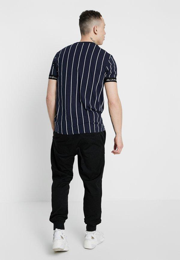 Kings Will Dream CLIFTON - T-shirt z nadrukiem - navy/white/granatowy Odzież Męska NARN
