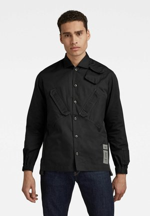 MULTI SLANT POCKET RELAXED  - Overhemd - dk black