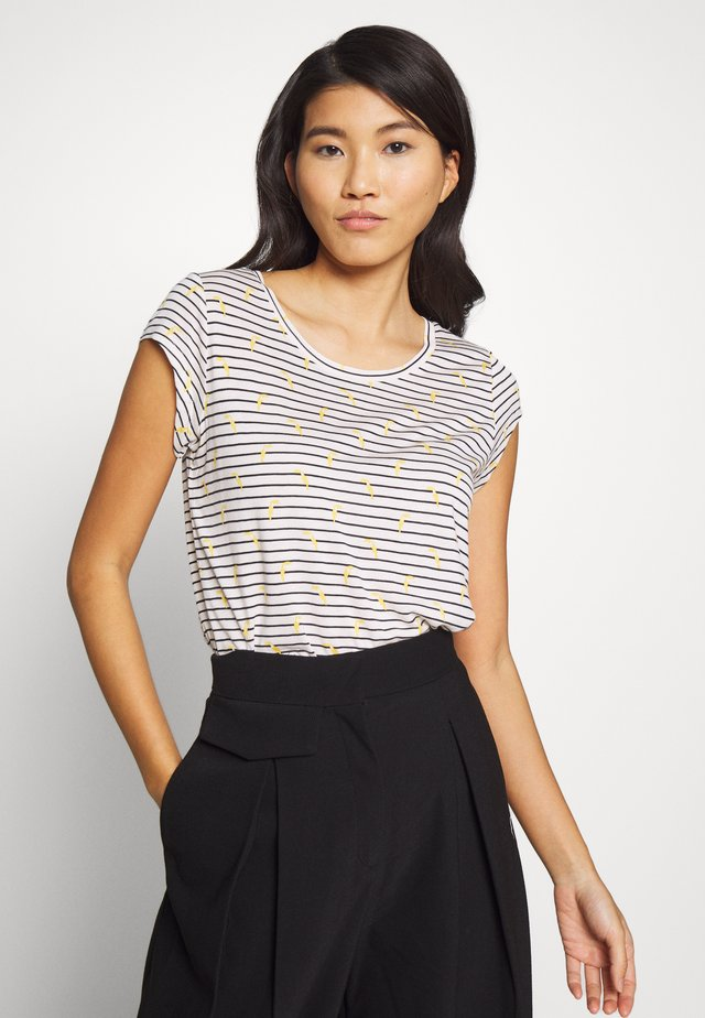 EASY TUCAN STRIPE - Print T-shirt - white beach