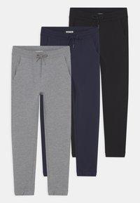 OVS - KID FRENCH TERRY 3 PACK - Teplákové kalhoty - navy blazer/pirate black/lilac hint - 0