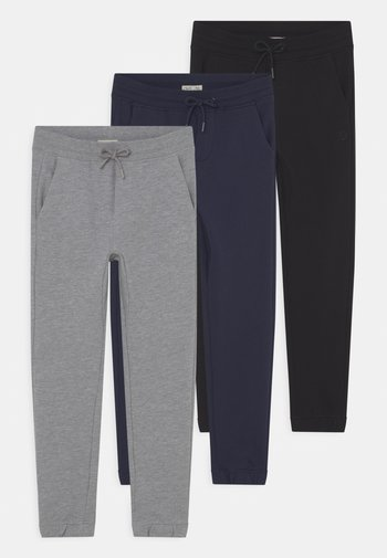 KID FRENCH TERRY 3 PACK - Pantaloni sportivi - navy blazer/pirate black/lilac hint