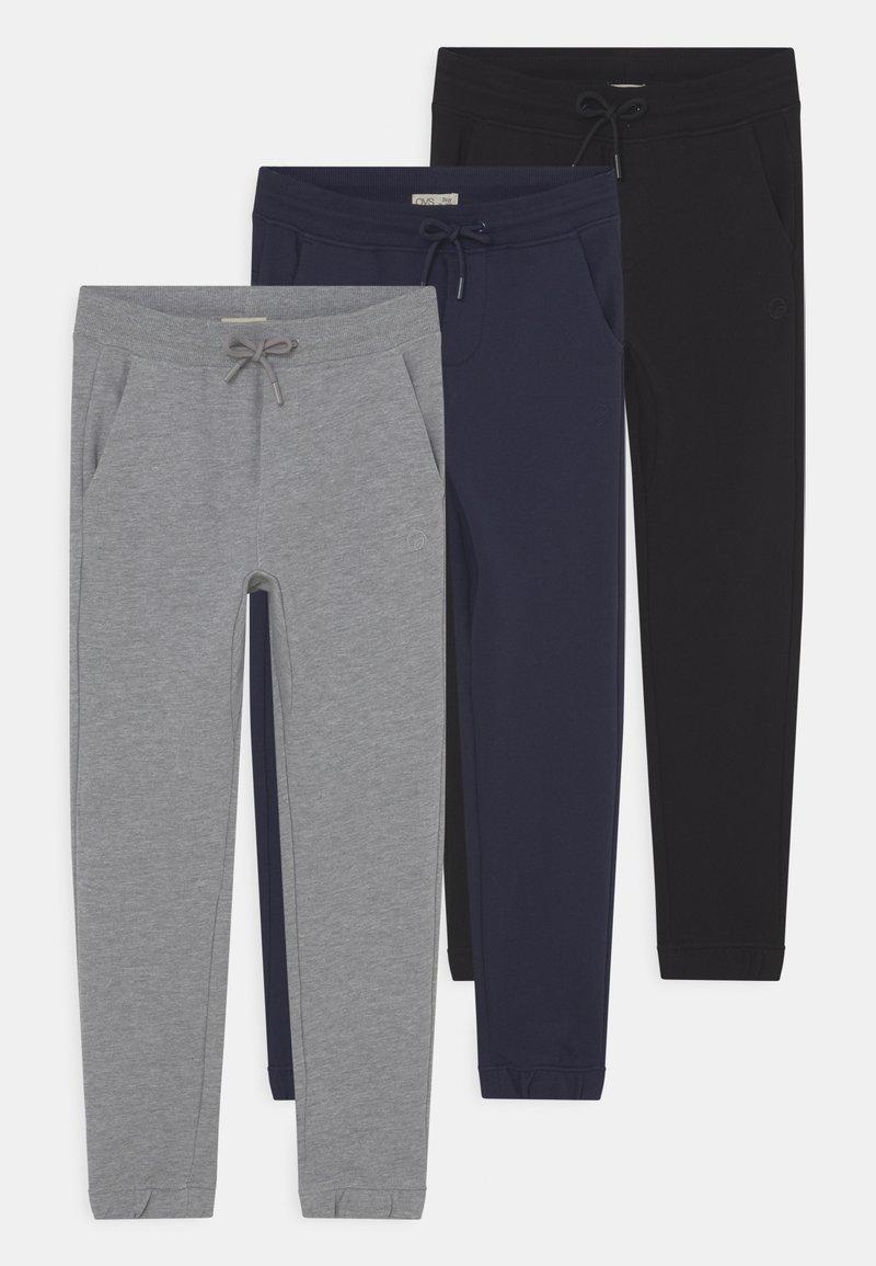 OVS - KID FRENCH TERRY 3 PACK - Teplákové kalhoty - navy blazer/pirate black/lilac hint