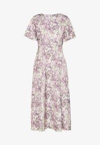 NA-KD - ZALANDO X NA-KD WIDE FLOWY SLEEVE MIDI DRESS - Denní šaty - purple - 4