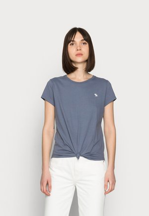 ICON KNOTTED CREW - T-shirt con stampa - dark blue