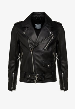 MOTO JACKET MULTI ZIP - Kožená bunda - black