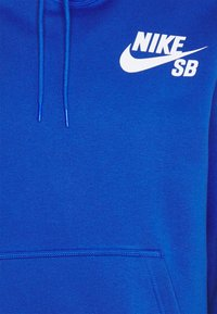 Nike SB - ICON HOODIE UNISEX - Hoodie - game royal/white - 2