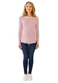 Vertbaudet - Long sleeved top - rot weiß gestreift - 1