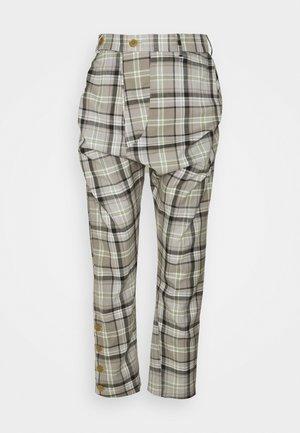 DRUNKEN TAILOR TROUSERS - Trousers - green/beige
