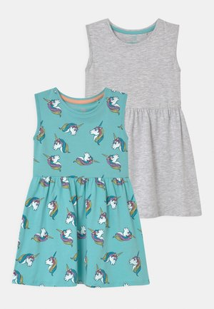 SMALL GIRLS 2 PACK - Jersey dress - light grey melange