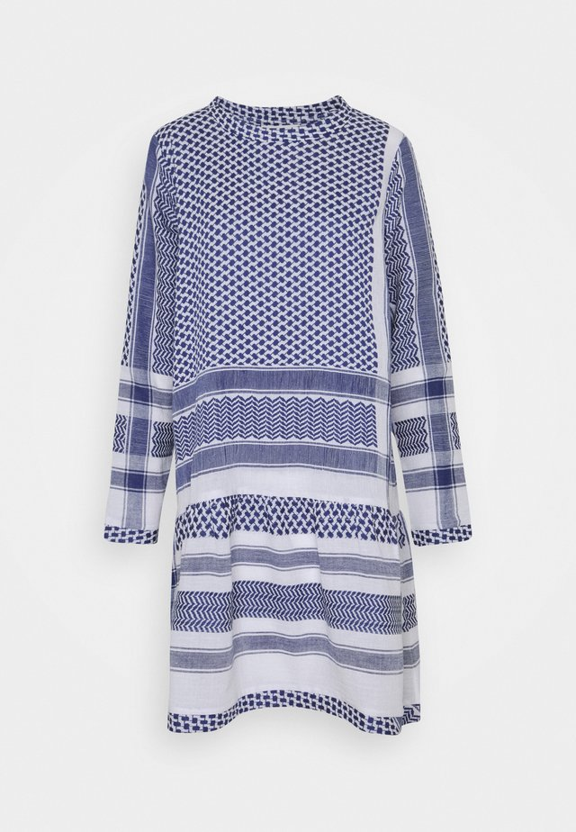 DRESS LONG SLEEVES - Robe d'été - navy/white