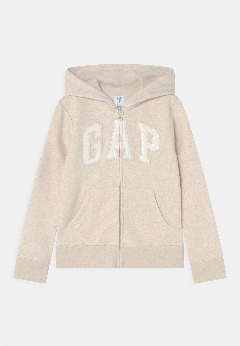 GAP - LOGO - Sweater met rits - oatmeal heather