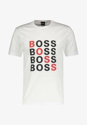 REGULAR FIT - T-shirt imprimé - weiss