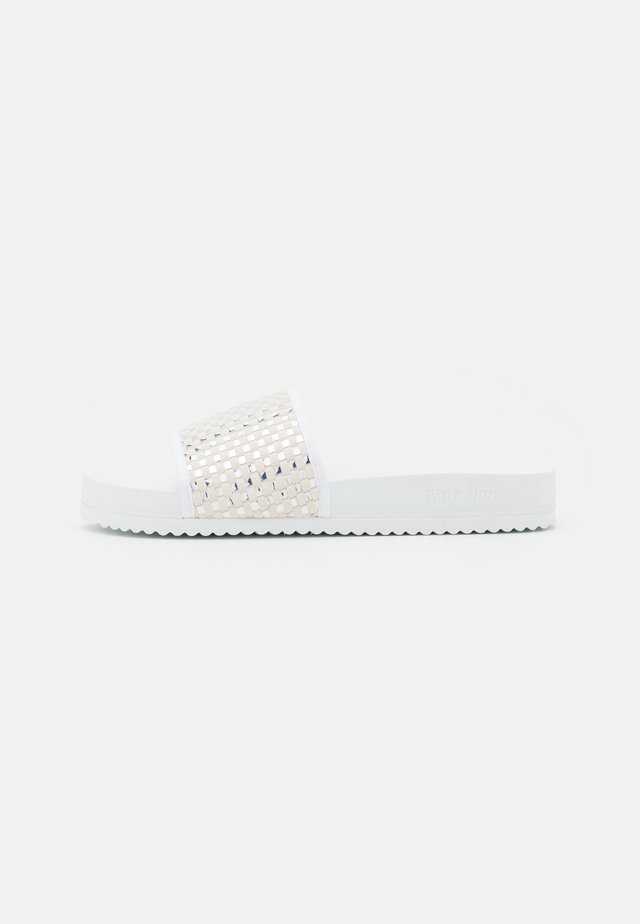 POOL CHECK - Muiltjes - white/silver