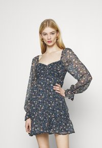 Hollister Co. - SHORT DRESS - Kjole - dark blue - 0