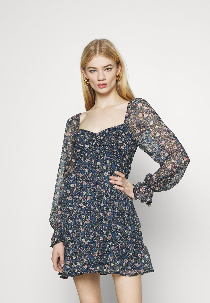 Hollister Co. - SHORT DRESS - Kjole - dark blue