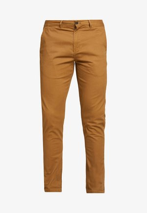 MOTT CLASSIC SLIM FIT - Chinosy - walnut