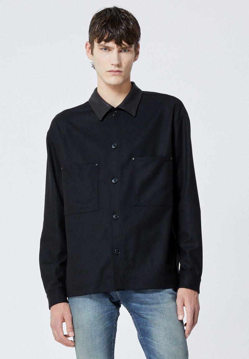 The Kooples - COL CUIR - Shirt - black