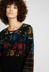 Ivko - DRESS FLORAL PATTERN - Jumper dress - black - 3