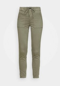 HIGH RISE  - Trousers - olive