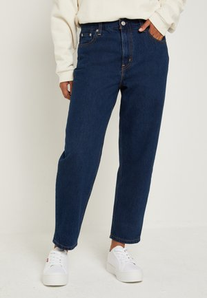 LOOSE TAPER CROP - Jean boyfriend - middle road