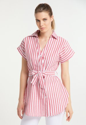 Button-down blouse - weiss rot