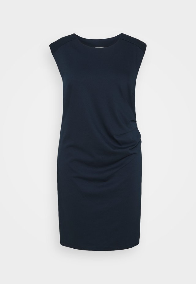 CINA ROUND NECK DRESS - Jerseykjole - midnight marine