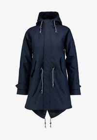 Derbe - TRAVEL FRIESE CHECK GIRLS - Waterproof jacket - navy - 4