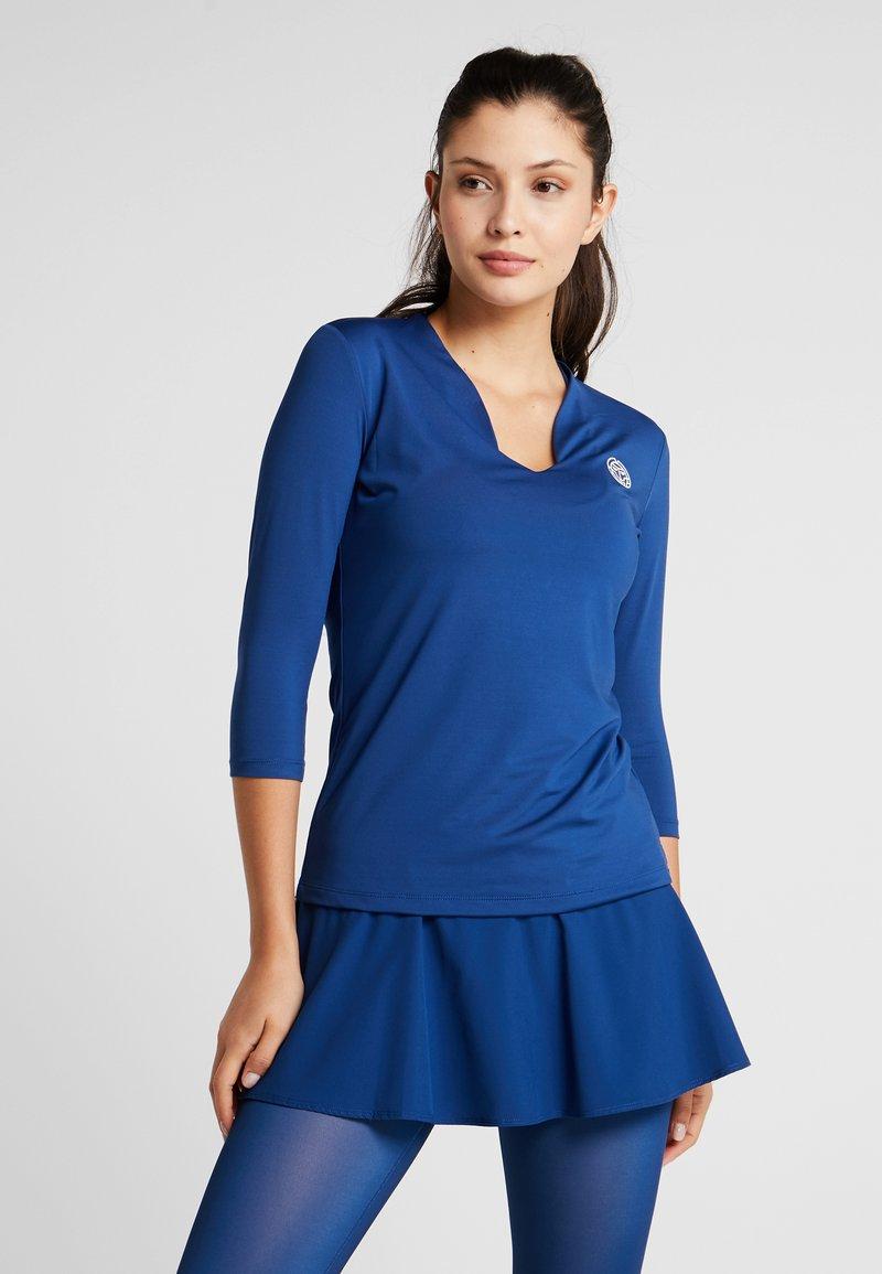 BIDI BADU - ARIANA TECH V NECK LONGSLEEVE - Pitkähihainen paita - dark blue