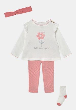 SET - Legging - pink/off-white