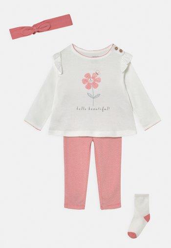 SET - Leggings - pink/off-white
