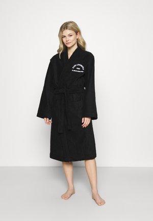 ADDRESS LOGO BATHROBE - Dressing gown - black