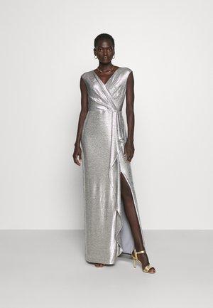 RYLAN SHORT SLEEVE GOWN - Festklänning - dark grey/silver