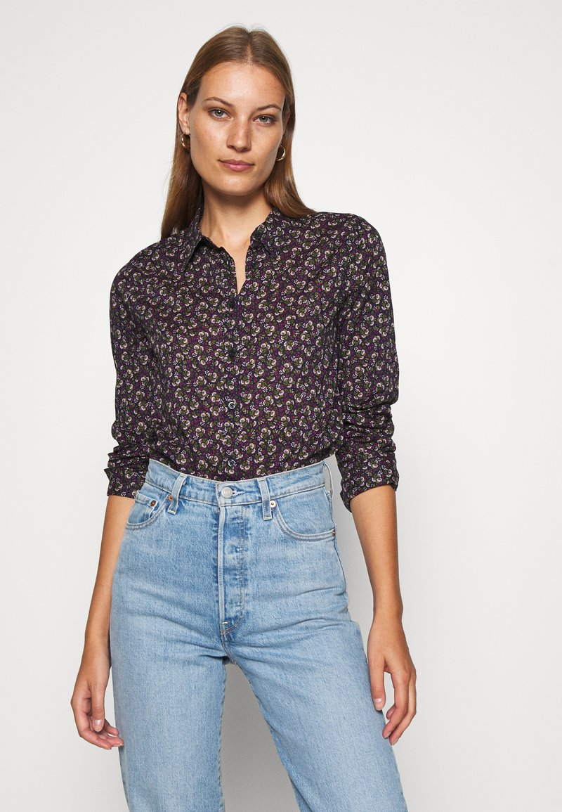 Benetton - Button-down blouse - navy
