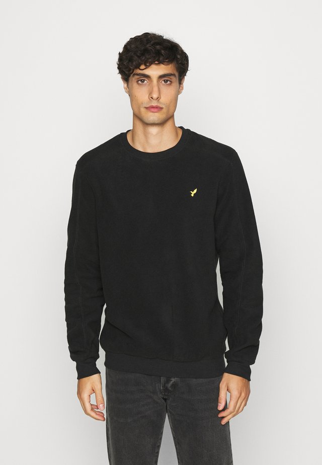 Felpa in pile - black
