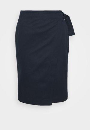 JUPE FEMME - Wrap skirt - marine