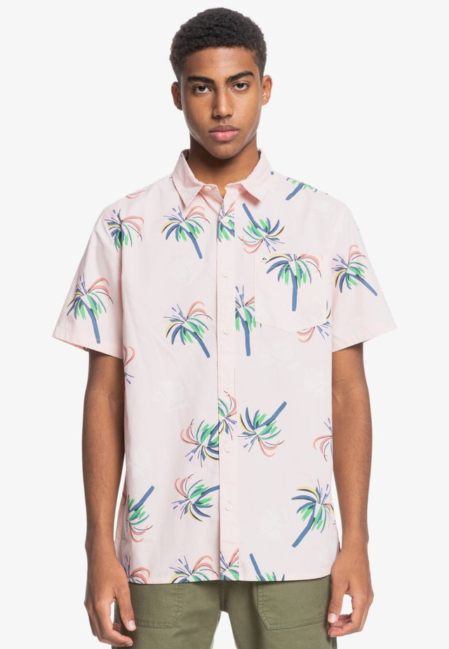 Shirt - soft pink royal palms