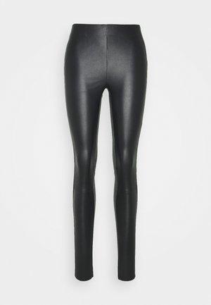 NEX - Leren broek - black