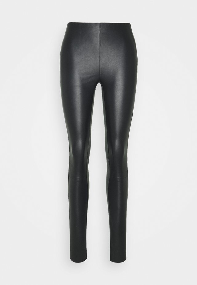 NEX - Leather trousers - black
